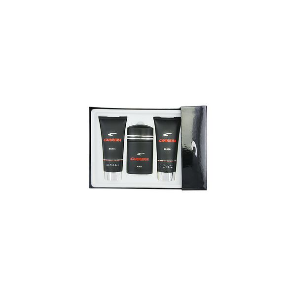 CARRERA BLACK EDT SPRAY 3.4 OZ & AFTERSHAVE BALM 6.8 OZ & SHOWER GEL 6.8 OZ
