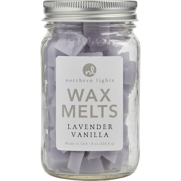 LAVENDER VANILLA SCENTED SIMMERING FRAGRANCE CHIPS - 8 OZ JAR CONTAINING 100 MELTS